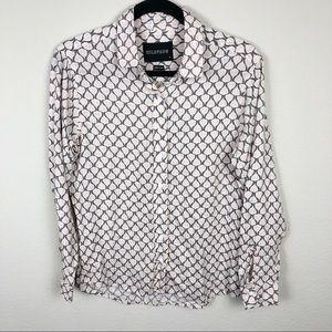 R7 WildFang Leaf Print Button Down Shirt